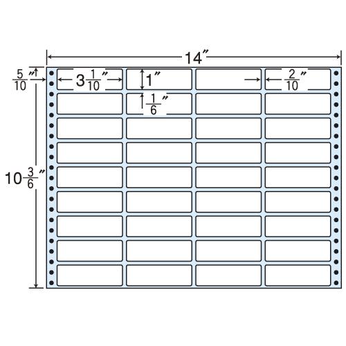 東洋印刷 タックシール nana レギュラータイプ (連続ラベル) 500折 MX14J