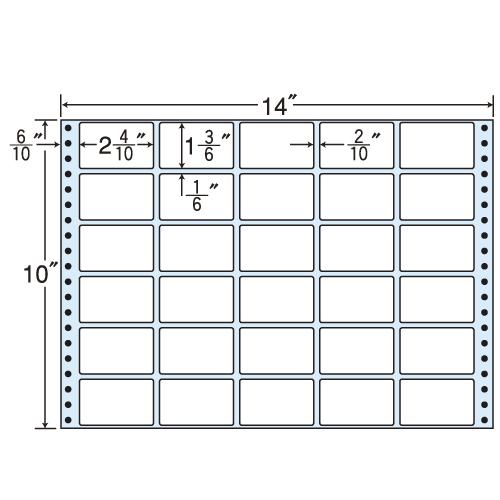 東洋印刷 タックシール nana レギュラータイプ (連続ラベル) 500折 MX14D