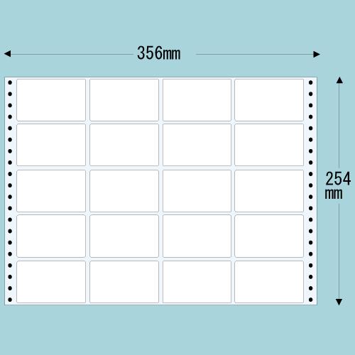 東洋印刷 タックシール nana レギュラータイプ (連続ラベル) 500折 M14C