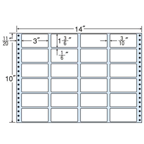 東洋印刷 タックシール nana レギュラータイプ (連続ラベル) 500折 MH14L