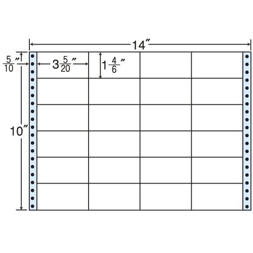 東洋印刷 タックシール nana レギュラータイプ (連続ラベル) 500折 MT14T
