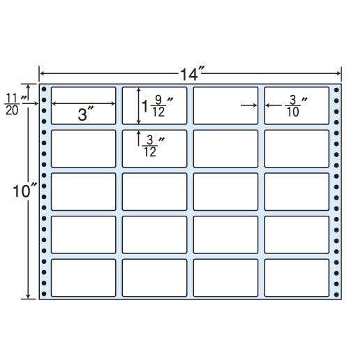 東洋印刷 タックシール nana レギュラータイプ (連続ラベル) 500折 MT14J