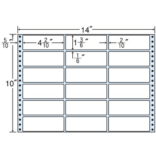 東洋印刷 タックシール nana レギュラータイプ (連続ラベル) 500折 M14B