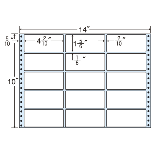 東洋印刷 タックシール nana レギュラータイプ (連続ラベル) 500折 M14A