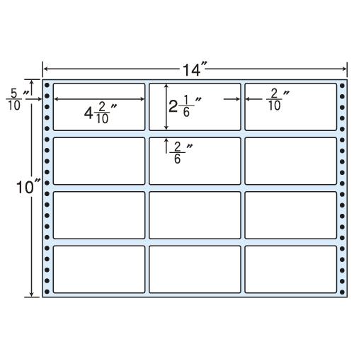 東洋印刷 タックシール nana レギュラータイプ (連続ラベル) 500折 MT14F