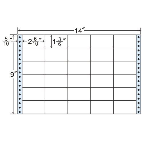 東洋印刷 タックシール nana レギュラータイプ (連続ラベル) 500折 M14F