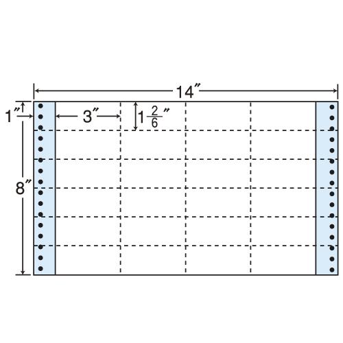 東洋印刷 タックシール nana レギュラータイプ (連続ラベル) 500折 MT14A