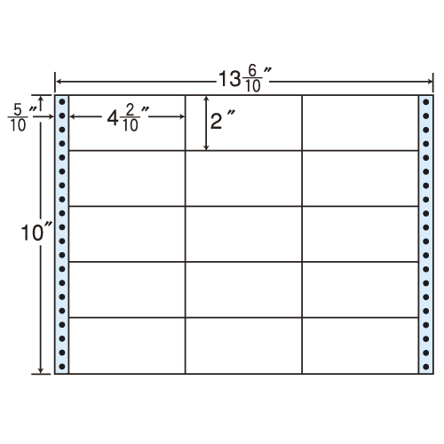 東洋印刷 タックシール nana レギュラータイプ (連続ラベル) 500折 M13N