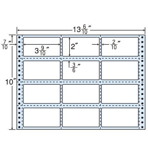 東洋印刷 タックシール nana レギュラータイプ (連続ラベル) 500折 M13H
