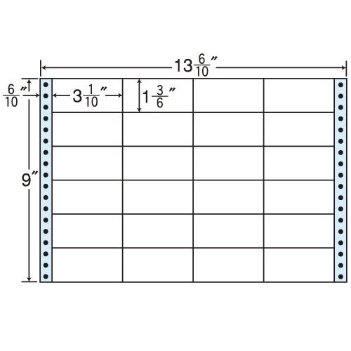 東洋印刷 タックシール nana レギュラータイプ (連続ラベル) 500折 MH13B