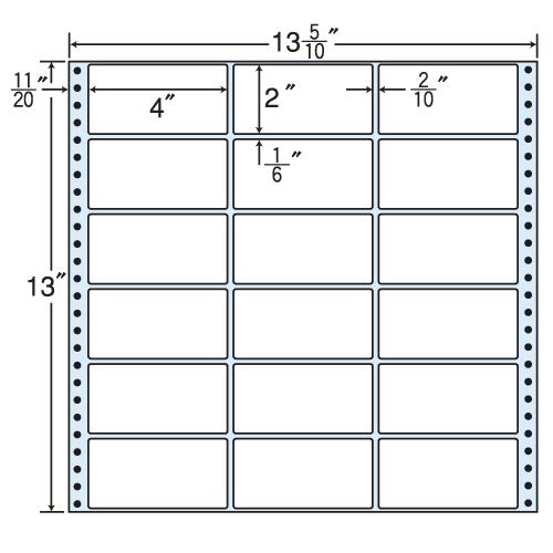東洋印刷 タックシール nana レギュラータイプ (連続ラベル) 500折 MT13V