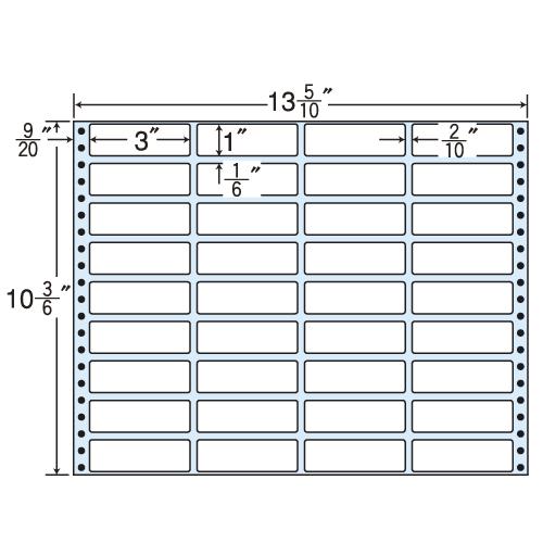 東洋印刷 タックシール nana レギュラータイプ (連続ラベル) 500折 MT13i