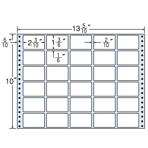 東洋印刷 タックシール nana レギュラータイプ (連続ラベル) 500折 MX13P