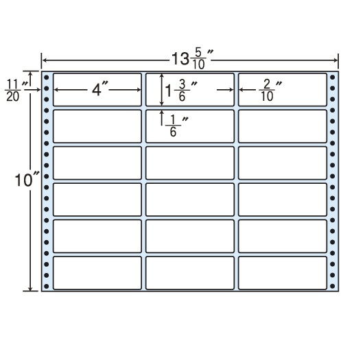 東洋印刷 タックシール nana レギュラータイプ (連続ラベル) 500折 M13i