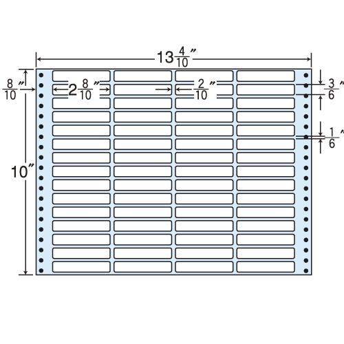 東洋印刷 タックシール nana レギュラータイプ (連続ラベル) 500折 MT13H