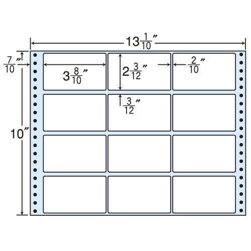 東洋印刷 タックシール nana レギュラータイプ (連続ラベル) 500折 M13K