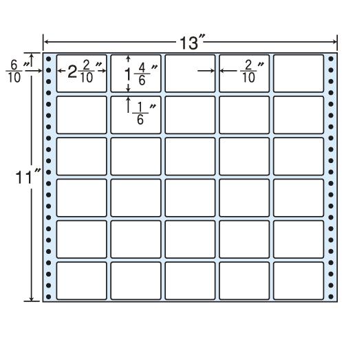 東洋印刷 タックシール nana レギュラータイプ (連続ラベル) 500折 M13R