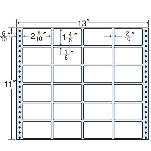 東洋印刷 タックシール nana レギュラータイプ (連続ラベル) 500折 MT13K