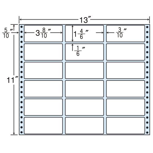 東洋印刷 タックシール nana レギュラータイプ (連続ラベル) 500折 M13B
