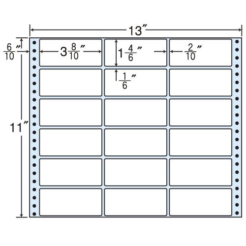 東洋印刷 タックシール nana レギュラータイプ (連続ラベル) 500折 MX13A