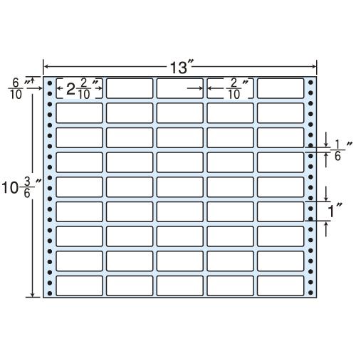 東洋印刷 タックシール nana レギュラータイプ (連続ラベル) 500折 M13P
