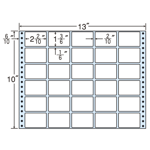 東洋印刷 タックシール nana レギュラータイプ (連続ラベル) 500折 MT13N