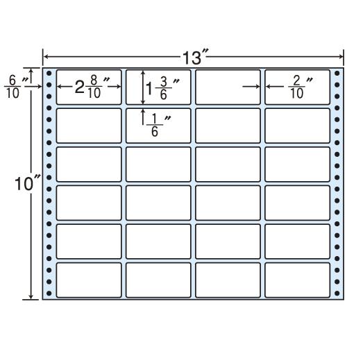 東洋印刷 タックシール nana レギュラータイプ (連続ラベル) 500折 M13E
