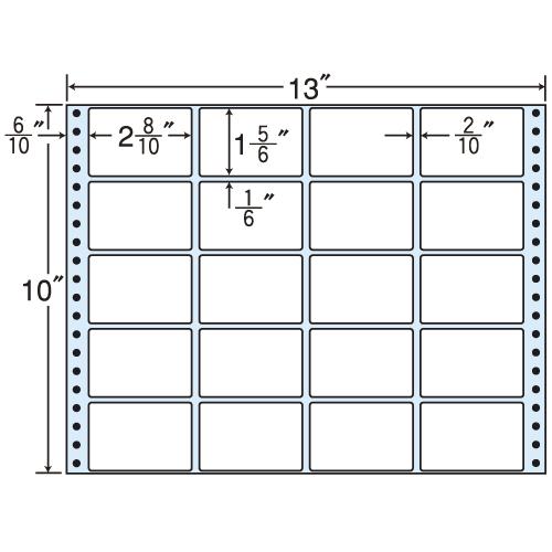 東洋印刷 タックシール nana レギュラータイプ (連続ラベル) 500折 M13D