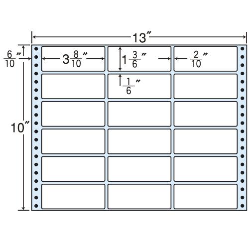 東洋印刷 タックシール nana レギュラータイプ (連続ラベル) 500折 MT13W
