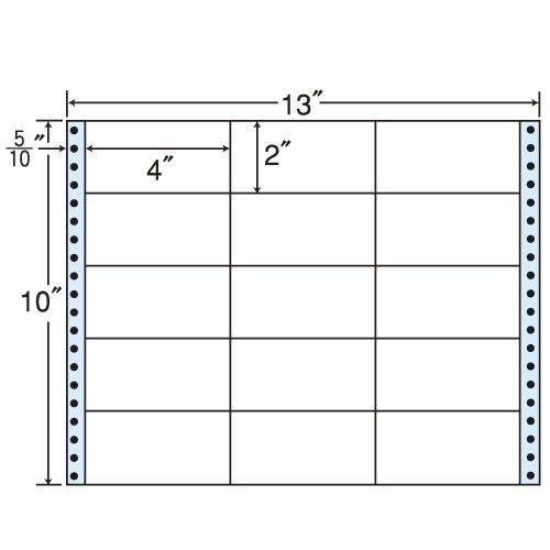 東洋印刷 タックシール nana レギュラータイプ (連続ラベル) 500折 M13C