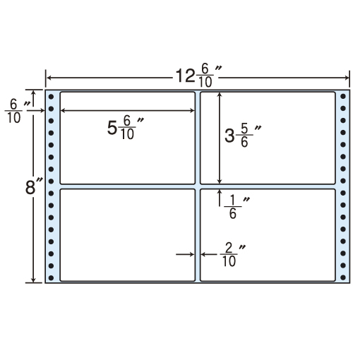 東洋印刷 タックシール nana レギュラータイプ (連続ラベル) 500折 M12R