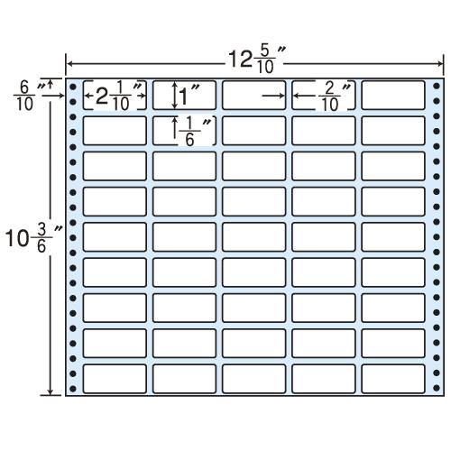 東洋印刷 タックシール nana レギュラータイプ (連続ラベル) 500折 MT12H