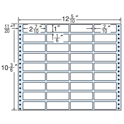 東洋印刷 タックシール nana レギュラータイプ (連続ラベル) 500折 MX12L