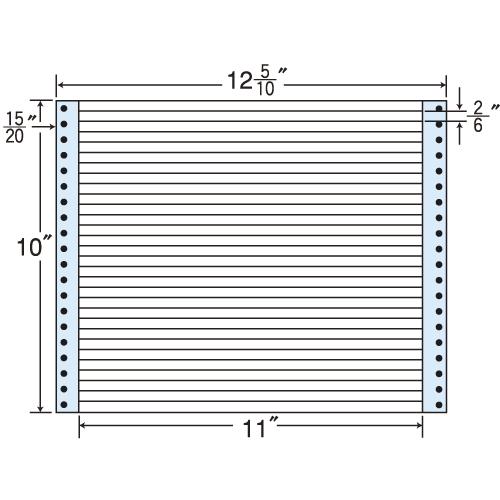 東洋印刷 タックシール nana レギュラータイプ (連続ラベル) 500折 MT12i