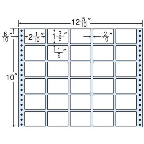 東洋印刷 タックシール nana レギュラータイプ (連続ラベル) 500折 MT12T