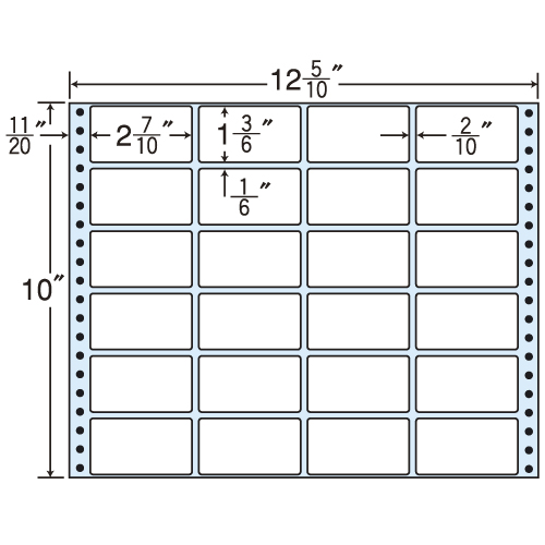東洋印刷 タックシール nana レギュラータイプ (連続ラベル) 500折 MX12H