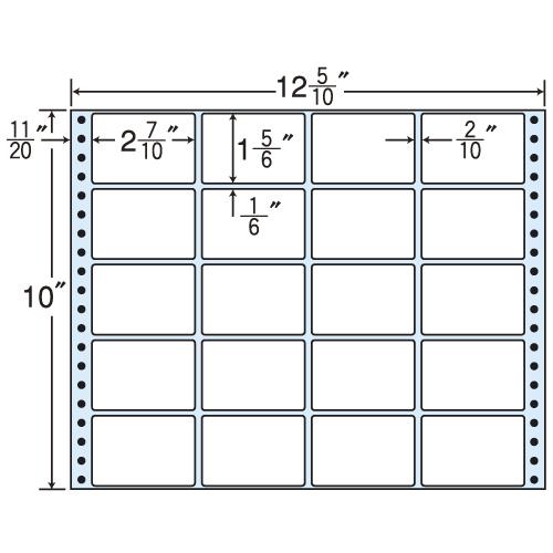 東洋印刷 タックシール nana レギュラータイプ (連続ラベル) 500折 MT12R