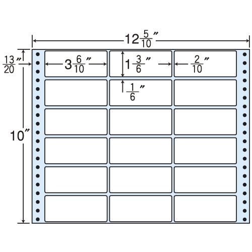 東洋印刷 タックシール nana レギュラータイプ (連続ラベル) 500折 M12G