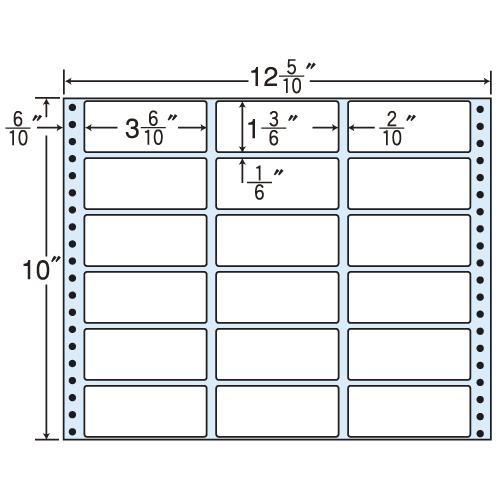 東洋印刷 タックシール nana レギュラータイプ (連続ラベル) 500折 M12N
