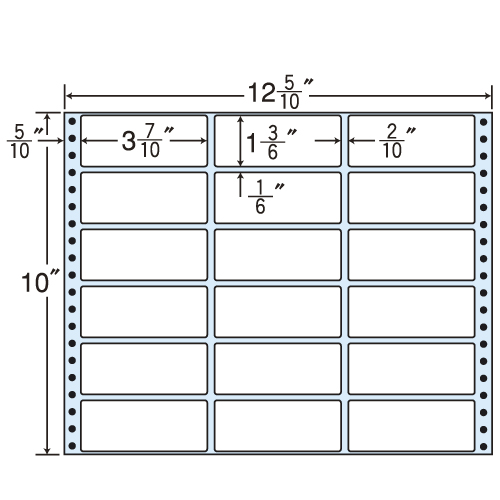 東洋印刷 タックシール nana レギュラータイプ (連続ラベル) 500折 MT12J
