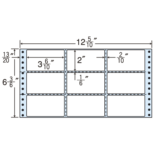 東洋印刷 タックシール nana レギュラータイプ (連続ラベル) 500折×2 M12M