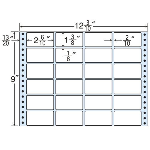東洋印刷 タックシール nana レギュラータイプ (連続ラベル) 500折 MX12C