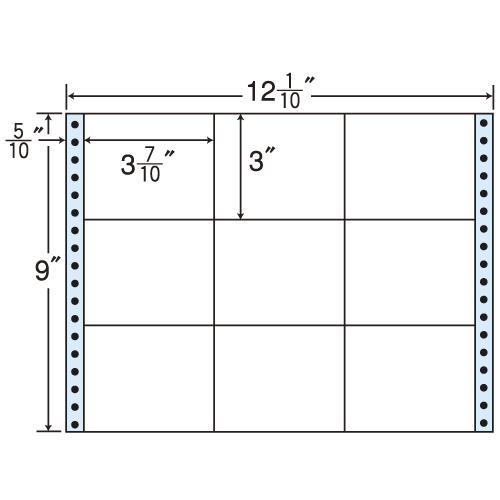 東洋印刷 Oタックシール nana レギュラータイプ (連続ラベル) 500折 M12