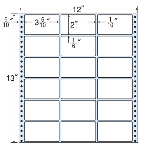 東洋印刷 タックシール nana レギュラータイプ (連続ラベル) 500折 M12A