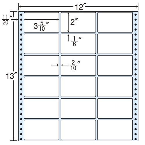 東洋印刷 タックシール nana レギュラータイプ (連続ラベル) 500折 MX12D