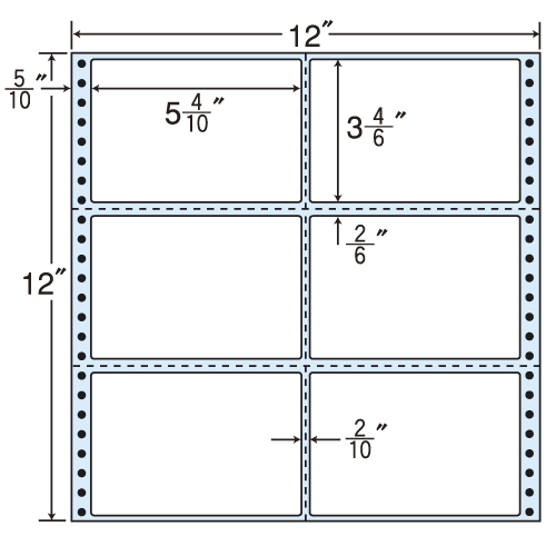 東洋印刷 タックシール nana レギュラータイプ (連続ラベル) 500折 M12Y