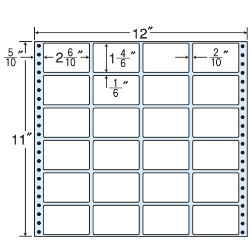 東洋印刷 タックシール nana レギュラータイプ (連続ラベル) 500折 MX12i