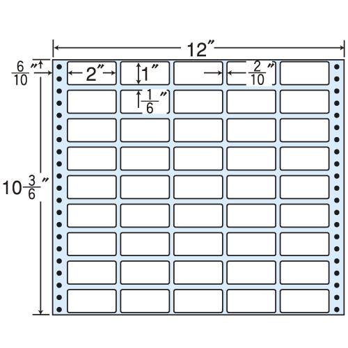 東洋印刷 タックシール nana レギュラータイプ (連続ラベル) 500折 M12C