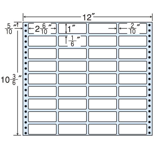 東洋印刷 タックシール nana レギュラータイプ (連続ラベル) 500折 MX12B