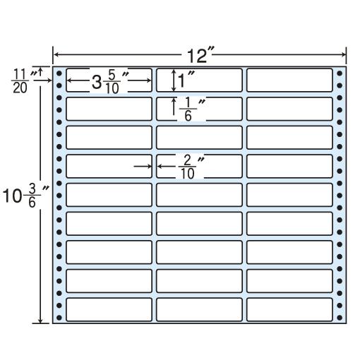 東洋印刷 タックシール nana レギュラータイプ (連続ラベル) 500折 MT12Q